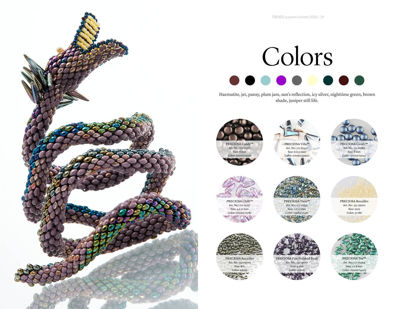 Color Trends Autumn 2018 Winter 2019 For Czech Glass Beads
