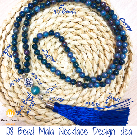 Mala Bead Necklaces From Czech Glass Beads: Meaning And Design Ideas