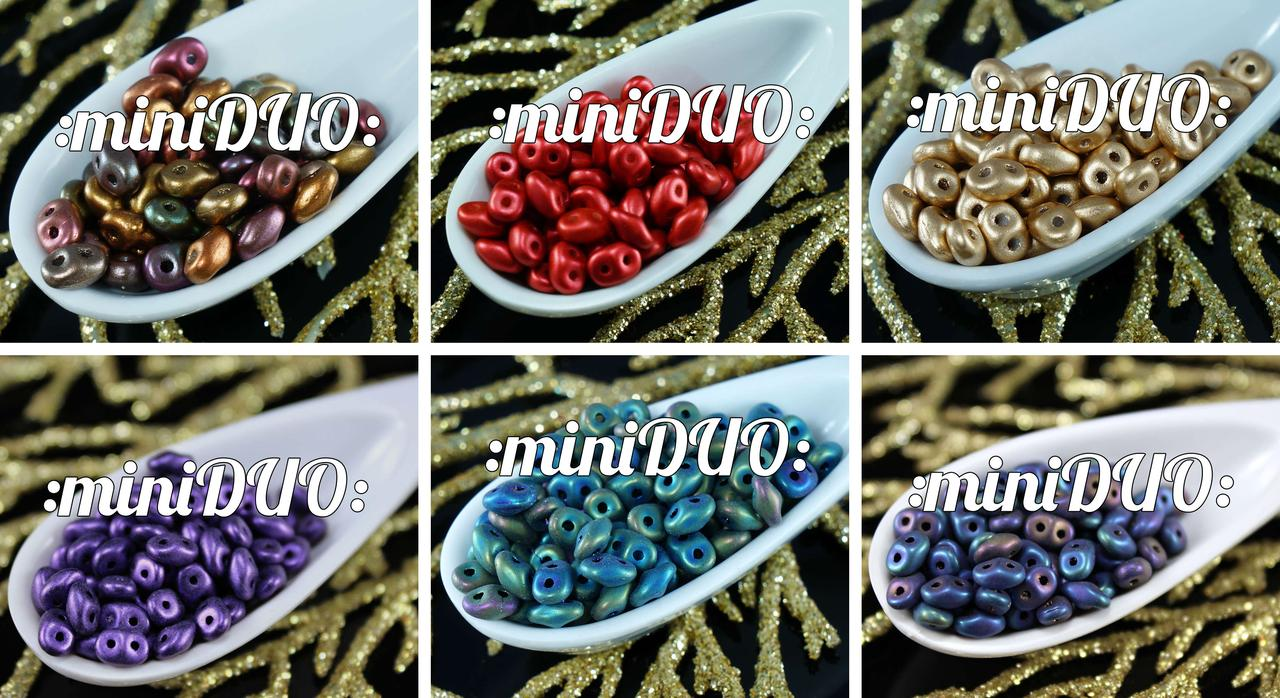 10g Miniduo Czech Glass Seed Beads Two Hole Mini Duo 2mm X 4mm for $3.76 from Czech Beads Exclusive