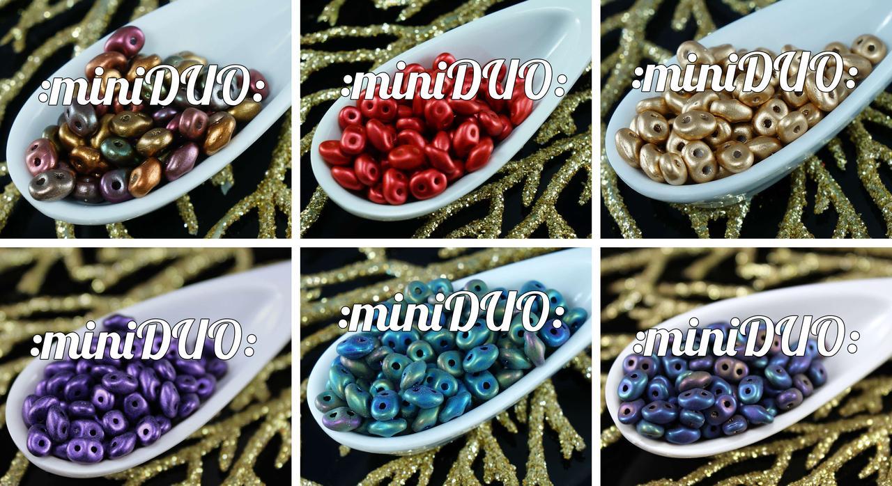 10g Miniduo Tschechische Glasperlen Zwei-Loch-Mini Duo 2mm X 4mm für $ 3.76 von Czech Beads Exclusive