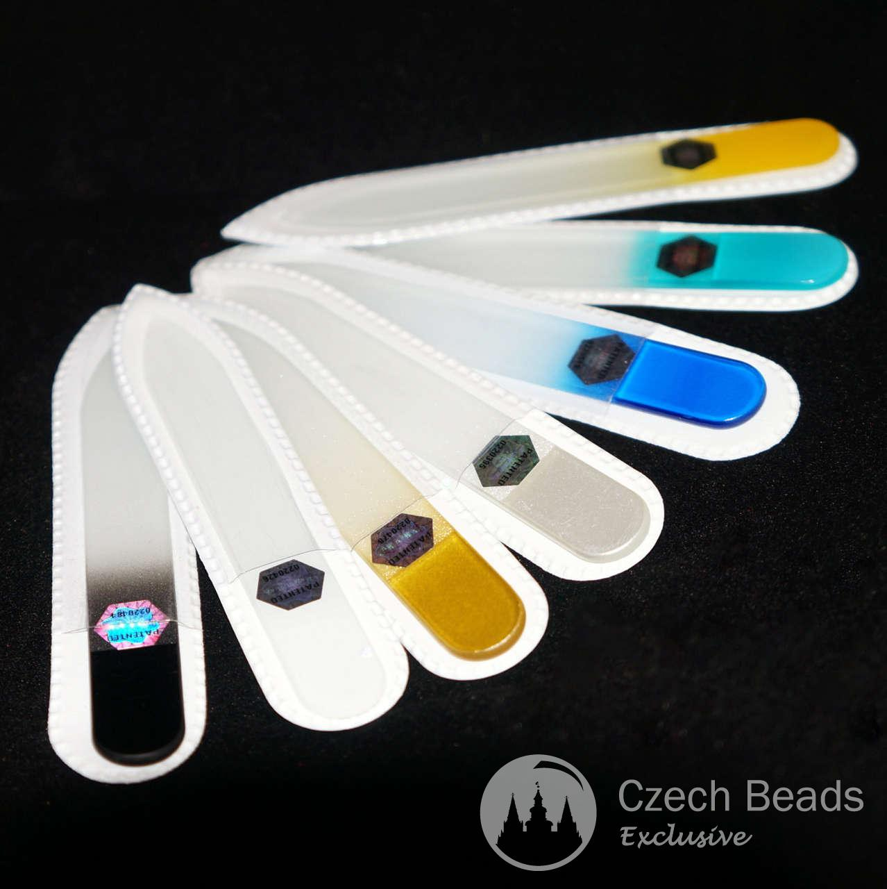 Authentic Patented Multicolor Czech Glass Nail File Two Sided 90mm ...