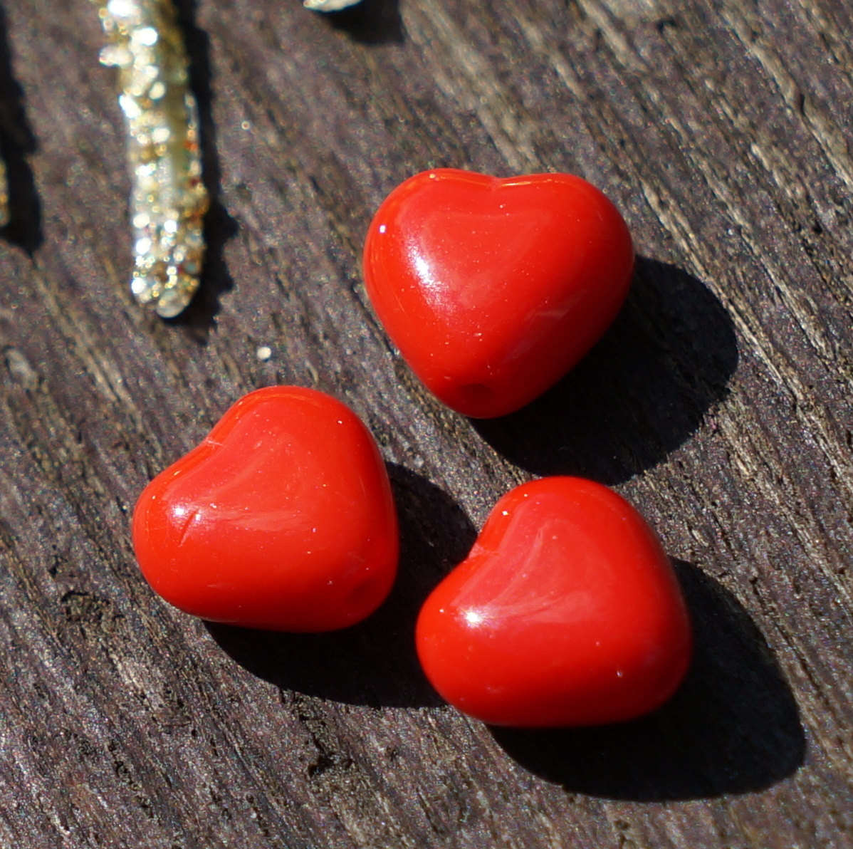 Rojo Corazón de Vidrio Cordón Cordón de san Valentín san valentín ...