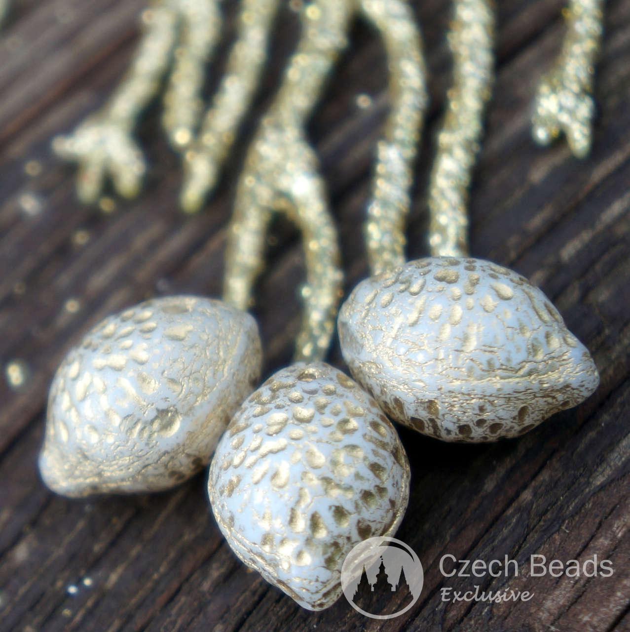 Opaque Gold Lemon Beads Czech Glass Lemon Beads Glass Fruit Beads Gold Lemon Glass Beads Czech Lemon Fall Czech Glass Beads 14mm x 10mm 6pc for $2.29 from Czech Beads Exclusive
