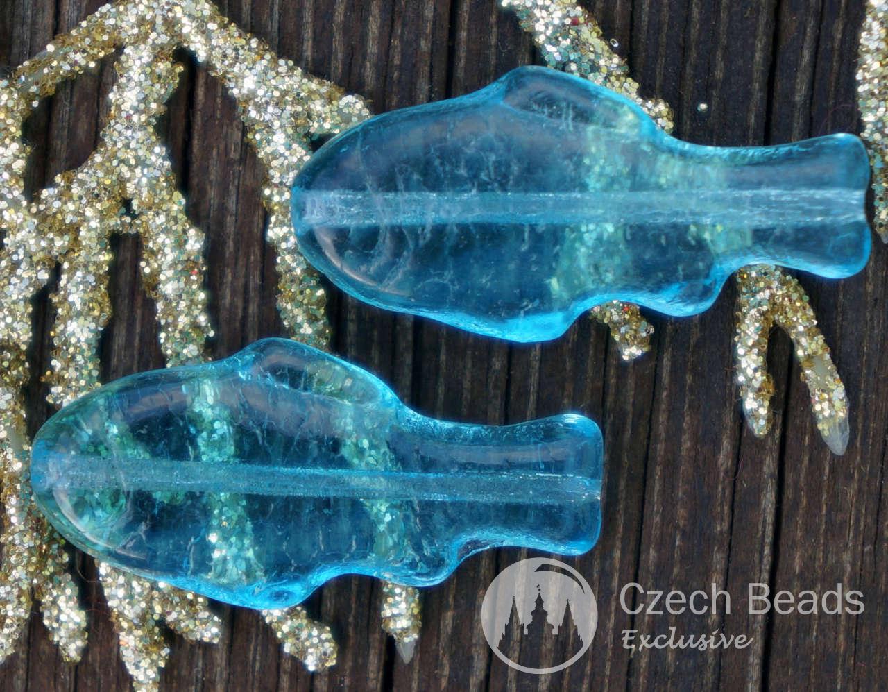 Grande Chiara Pesce Azzurro E Perle Di Vetro Ceca Perline Di Vetro