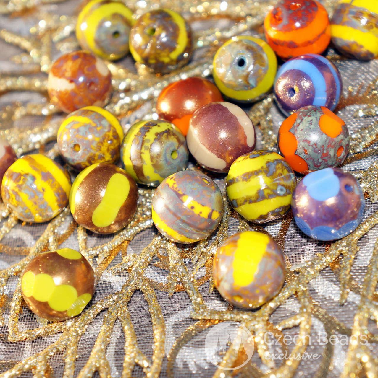 Mix Multicolore Al Taglio ceca Picasso Sfaccettata, Perle di Taglio Centrale Picasso ceca microsfere di Vetro, Perline di Vetro ceco Picasso Perle 12mm 4pc per $ 2.31 da Czech Beads Exclusive