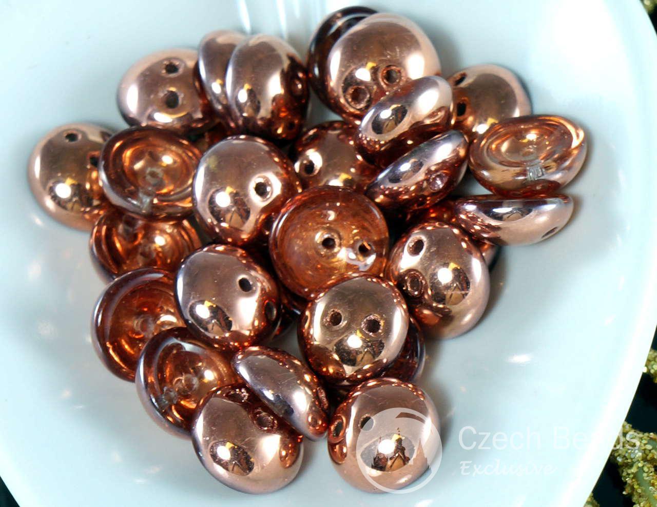 30pcs Cristal de Cuivre Métallique Piggy Perles de Verre tchèque Deux Trou des Perles de 4 mm x 8 mm pour $ 2.38 à partir de Czech Beads Exclusive
