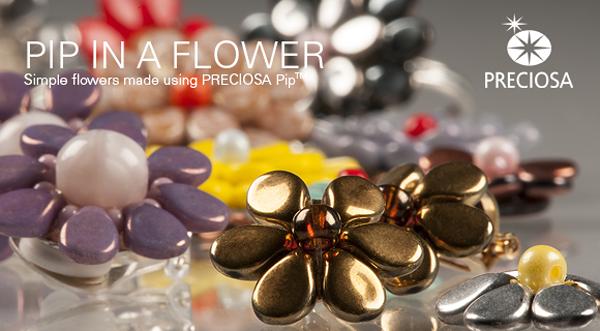 60pcs Opaque Metallic Bronze PIP Beads Czech Glass PRECIOSA Pressed Beads Flat Flower Petal 5mm x 7mm