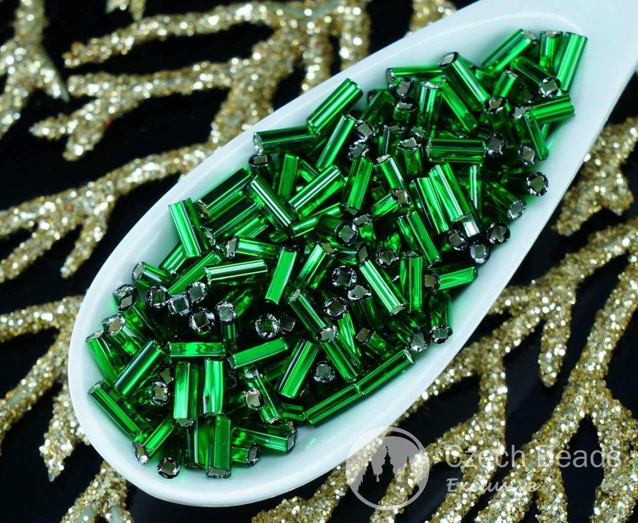 20g Grün Silber Ausgekleidet Tschechische Glas-Sechskant-Rohr-Rocailles PRECIOSA Rocaille Spacer 4,7 mm Rund 982pcs für $ 2.39 von Czech Beads Exclusive