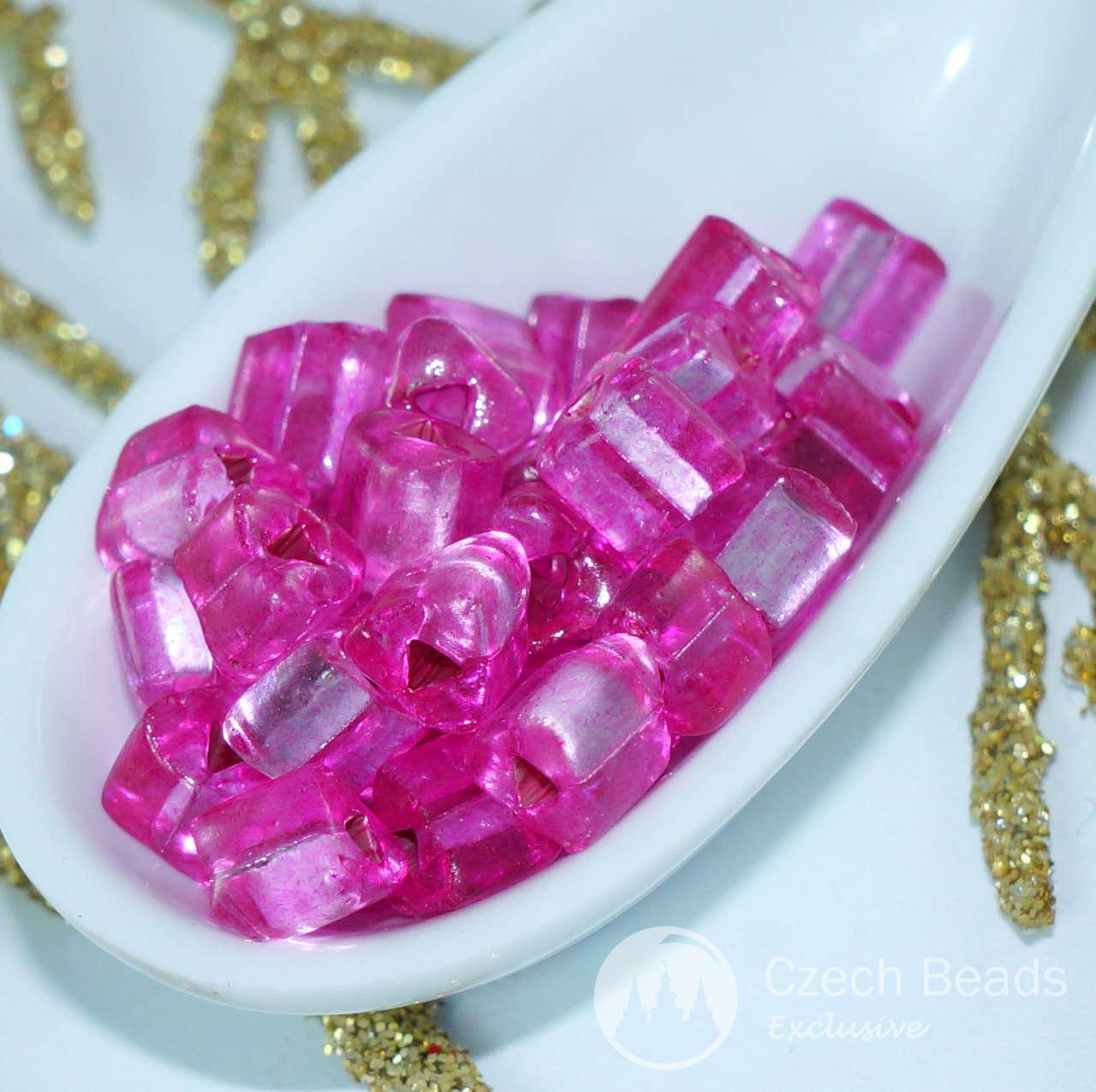20g di colore Rosa Chiaro Argento Foderato Triangolo Perline di Vetro ceco Seed Beads Perline PRECIOSA Seed beads Perle Rocaille Cordone di 4mm per $ 2.39 da Czech Beads Exclusive