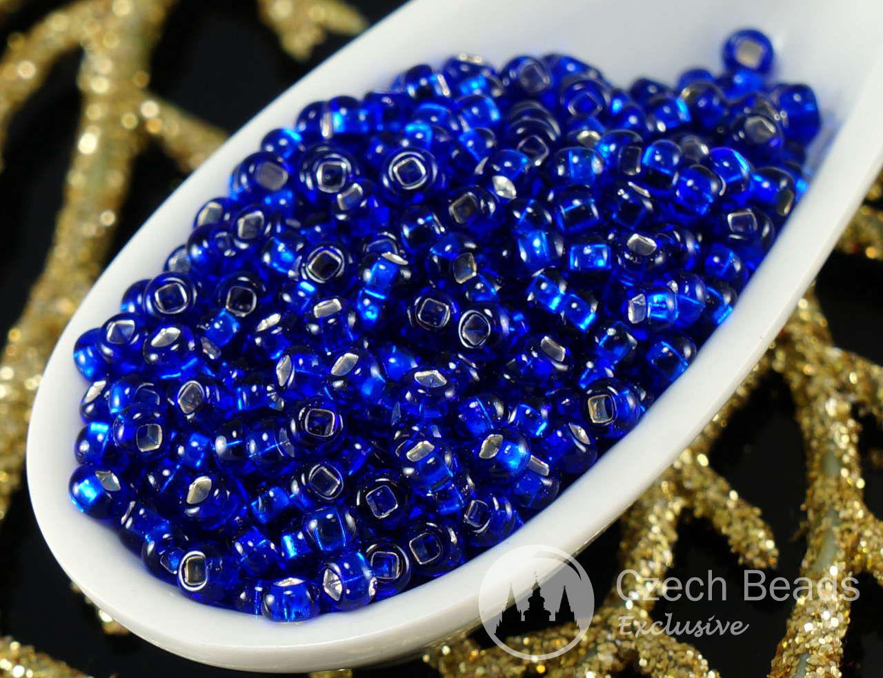 20g de Plata Azul Forrado de Cristal checo Semilla de Perlas 9/0 PRECIOSA Talla 9 Perlas Rocaille Espaciador de 2.6 mm para $ 1.81 de Czech Beads Exclusive