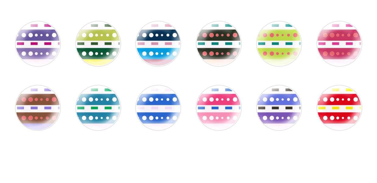Handmade Round Domed Czech Glass Cabochons Patterns 137 for $7.29 from Czech Beads Exclusive