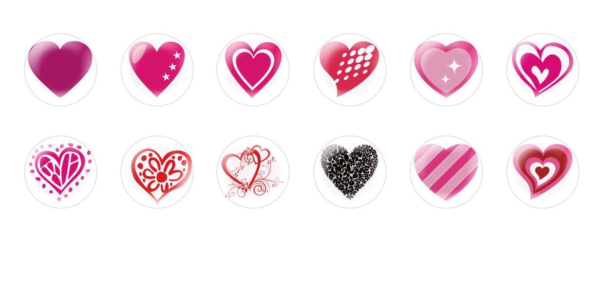 Handmade Round Domed Czech Glass Cabochons Hearts Valentine 1 for $7.29 from Czech Beads Exclusive