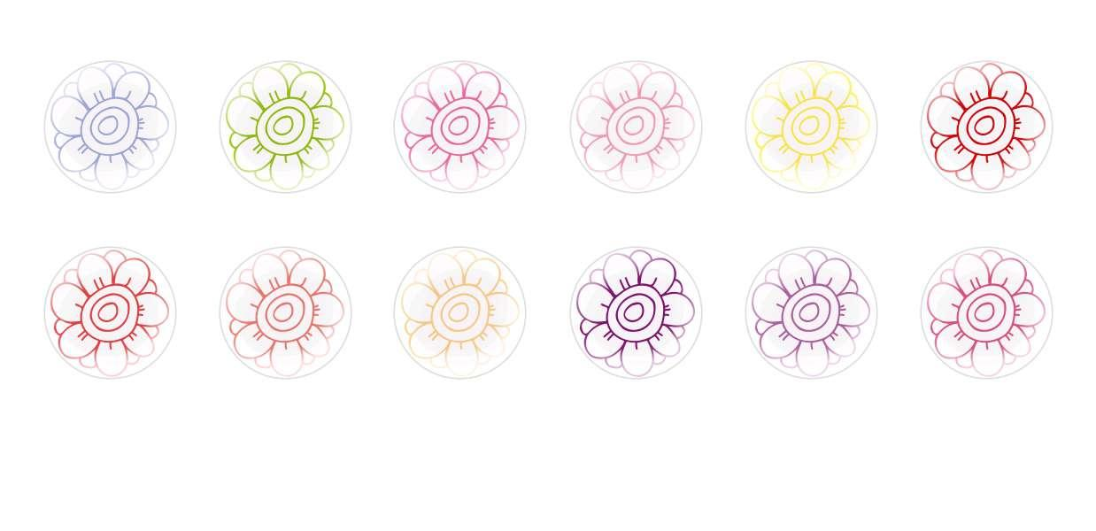 Handmade Round Domed Czech Glass Cabochons Flowers 17 for $6.93 from Czech Beads Exclusive