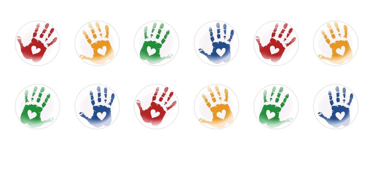 Handmade Round Domed Czech Glass Cabochons Heart Handprint for $6.93 from Czech Beads Exclusive