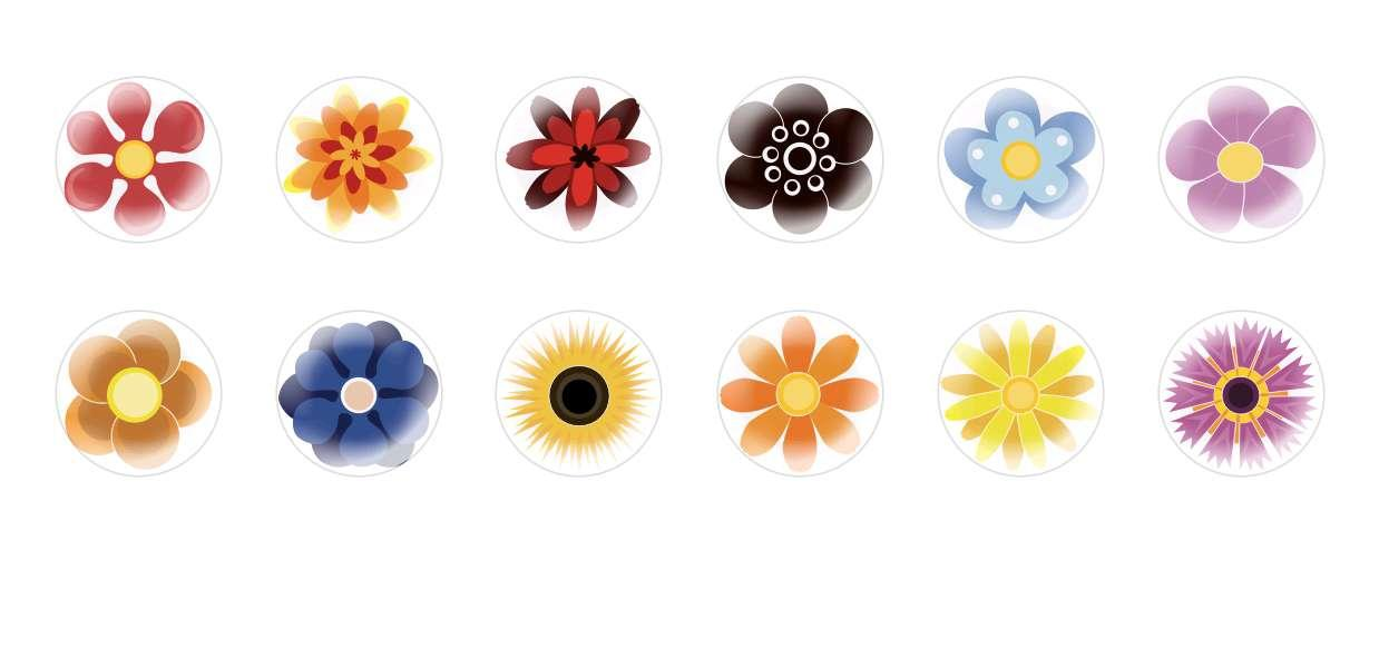 Handmade Round Domed Czech Glass Cabochons Cute Flowers for $6.89 from Czech Beads Exclusive