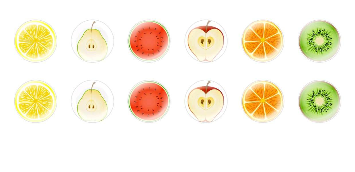 Handmade Round Domed Czech Glass Cabochons Sliced Fruits 1 for $6.92 from Czech Beads Exclusive