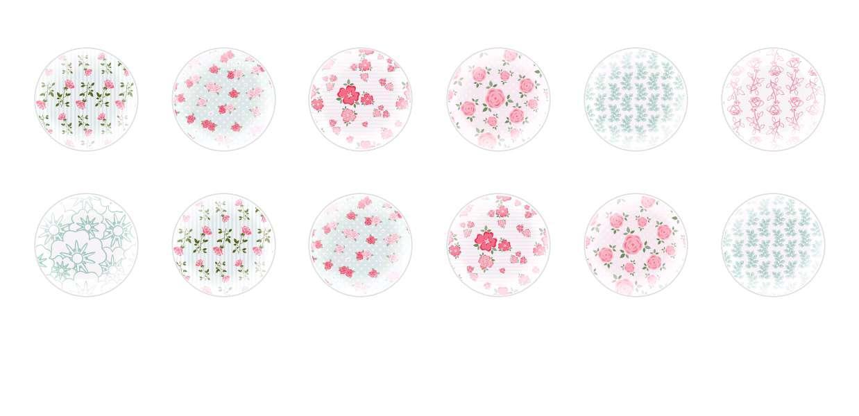 Main Rond En Forme De Dôme Verre Tchèque Cabochon Motifs Floraux 4 pour $ 6.93 à partir de Czech Beads Exclusive