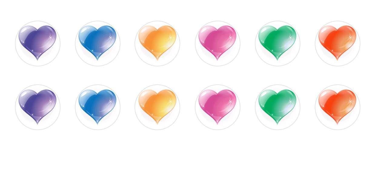 Handmade Round Domed Czech Glass Cabochons Heart Love Set for $6.92 from Czech Beads Exclusive