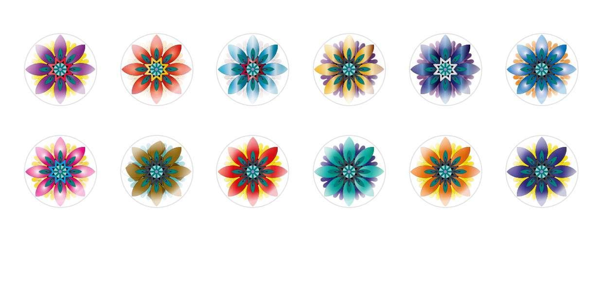 Круглый Купольный Ручной Работы Кабошоны Цветы 9 для $ 6.89 из Czech Beads Exclusive