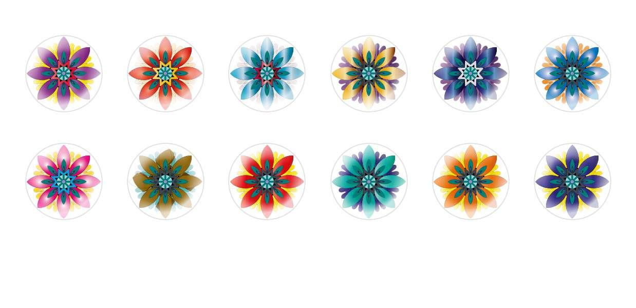 Handmade Round Domed Czech Glass Cabochons Flowers 9 for $6.89 from Czech Beads Exclusive