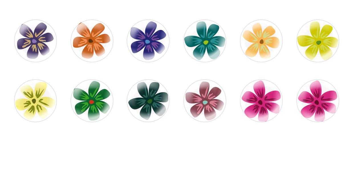 Круглый Купольный Ручной Работы Кабошоны Цветы 32 для $ 6.93 из Czech Beads Exclusive