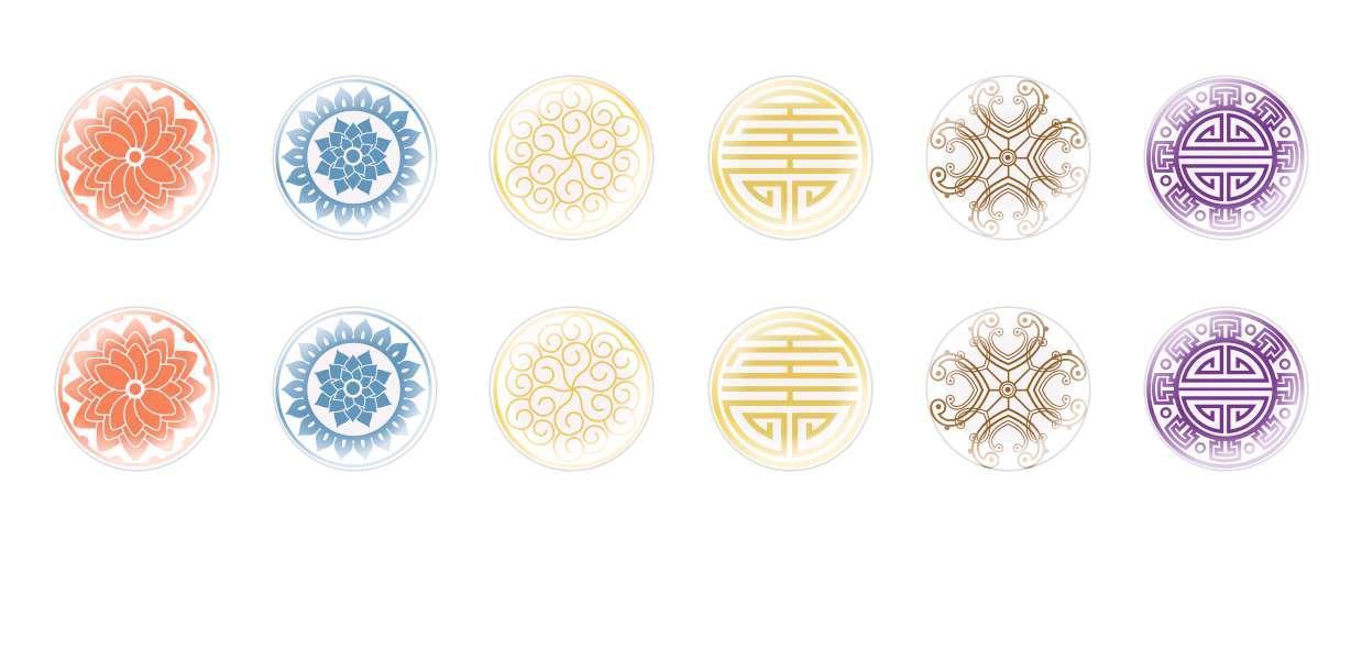 A Mano Rotonda Con Cupola Di Vetro Ceco Cabochon Decorativi per $ 7.29 da Czech Beads Exclusive