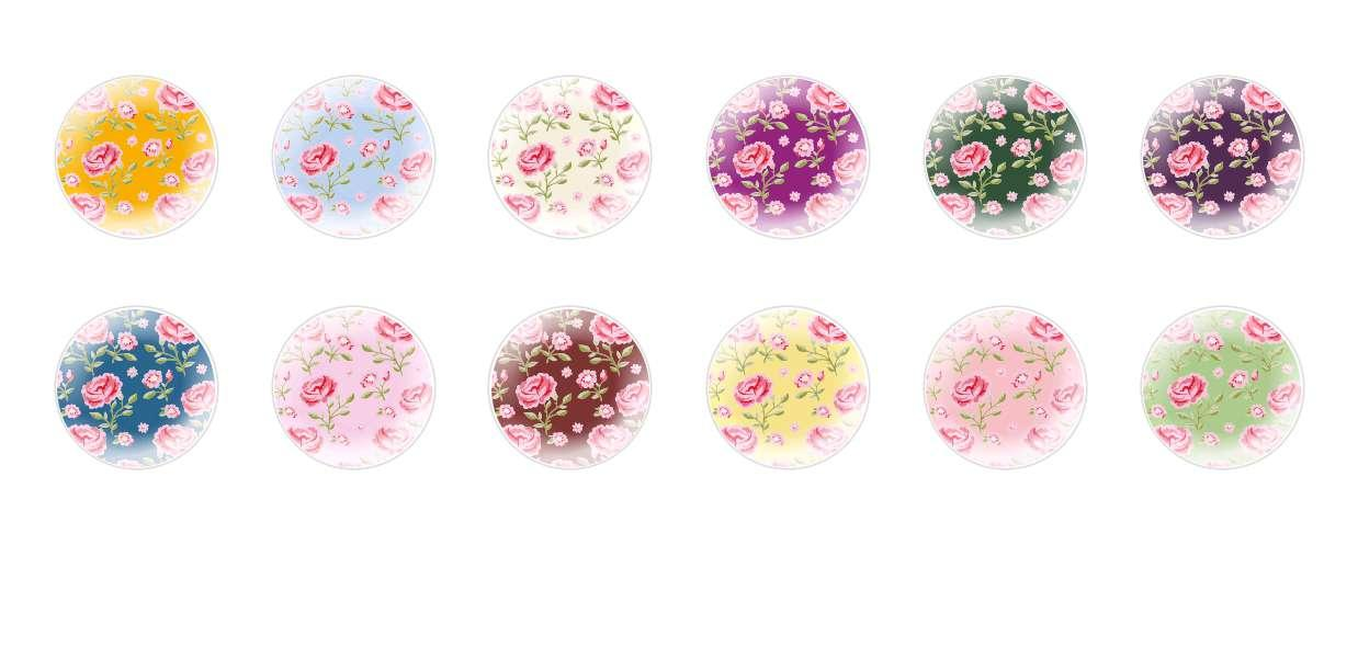 Handmade Round Domed Czech Glass Cabochons Patterns 131 for $7.29 from Czech Beads Exclusive