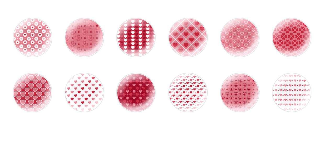 Mano De Cúpula Cristal Checo Cabujones Corazones Los Patrones 1 para $ 6.92 de Czech Beads Exclusive