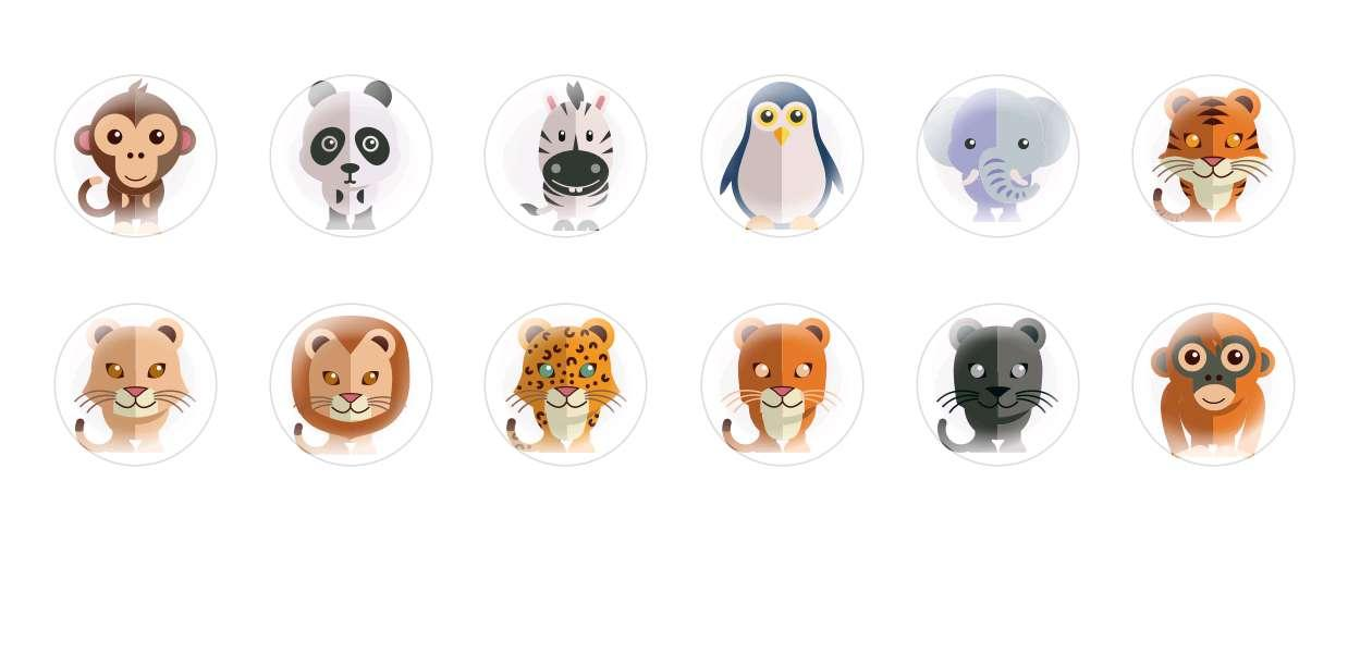 Handmade Round Domed Czech Glass Cabochons Animals 8 for $7.29 from Czech Beads Exclusive