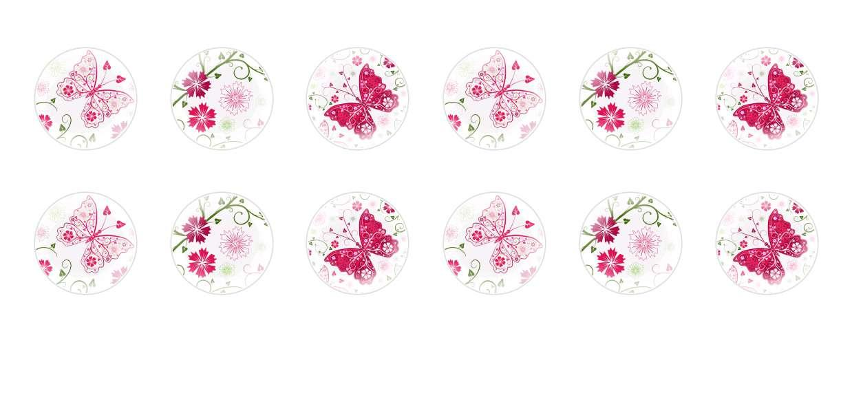Handmade Round Domed Czech Glass Cabochons Butterfly Pattern for $6.89 from Czech Beads Exclusive