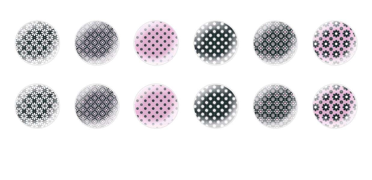 Main Rond En Forme De Dôme Verre Tchèque Cabochon Camomille Modèles pour $ 6.92 à partir de Czech Beads Exclusive