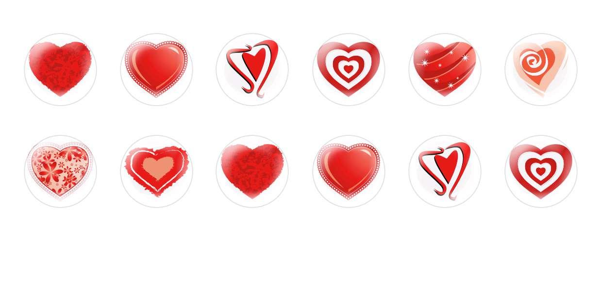 Handmade Round Domed Czech Glass Cabochons Hearts Valentine 2 for $7.29 from Czech Beads Exclusive