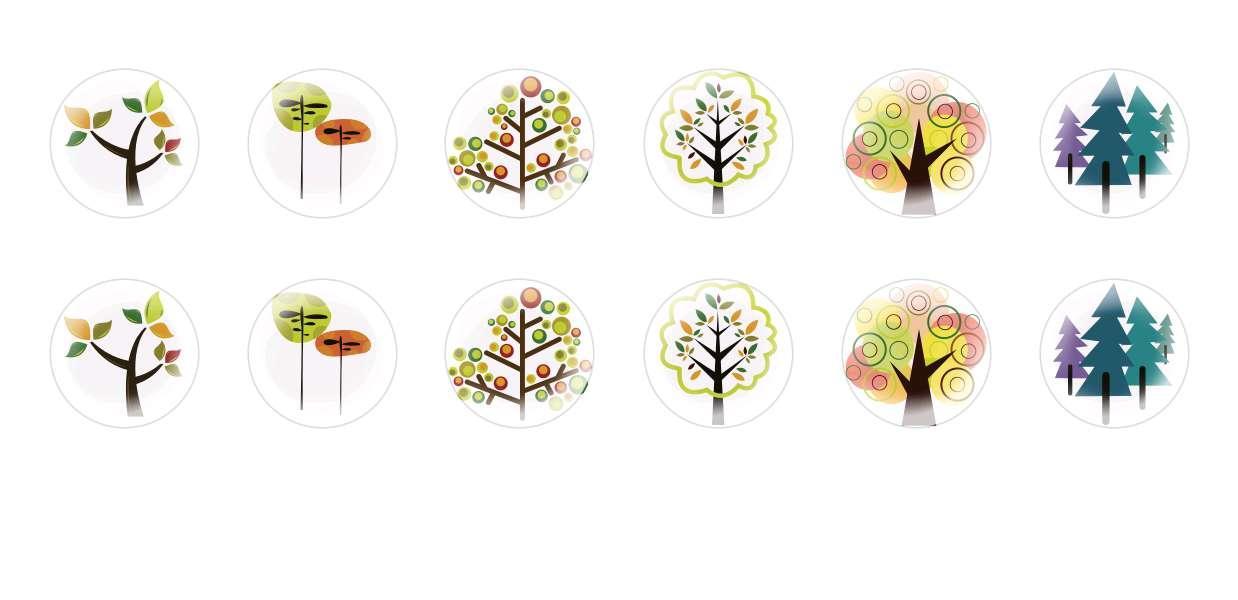 A Mano Rotonda Con Cupola Di Vetro Ceco Cabochon Alberi 2 per $ 6.88 da Czech Beads Exclusive