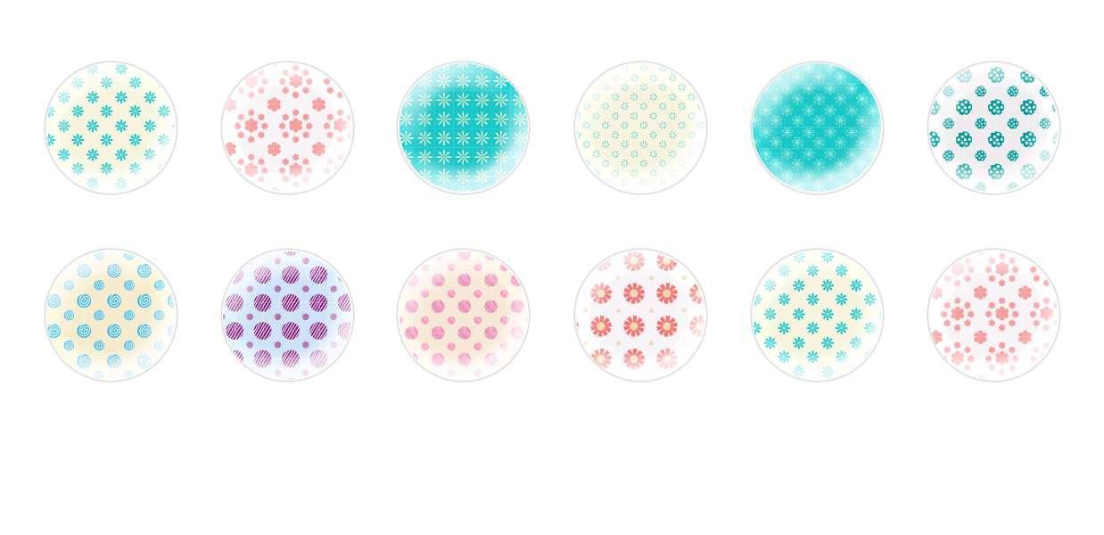 Mano De Cúpula Cristal Checo Cabujones Patrones Florales 3 para $ 7.29 de Czech Beads Exclusive