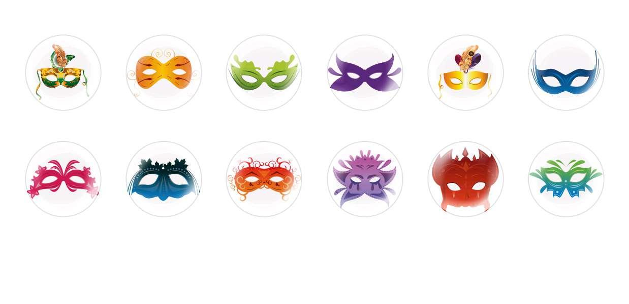 Handmade Round Domed Czech Glass Cabochons Carnival Masks for $7.29 from Czech Beads Exclusive