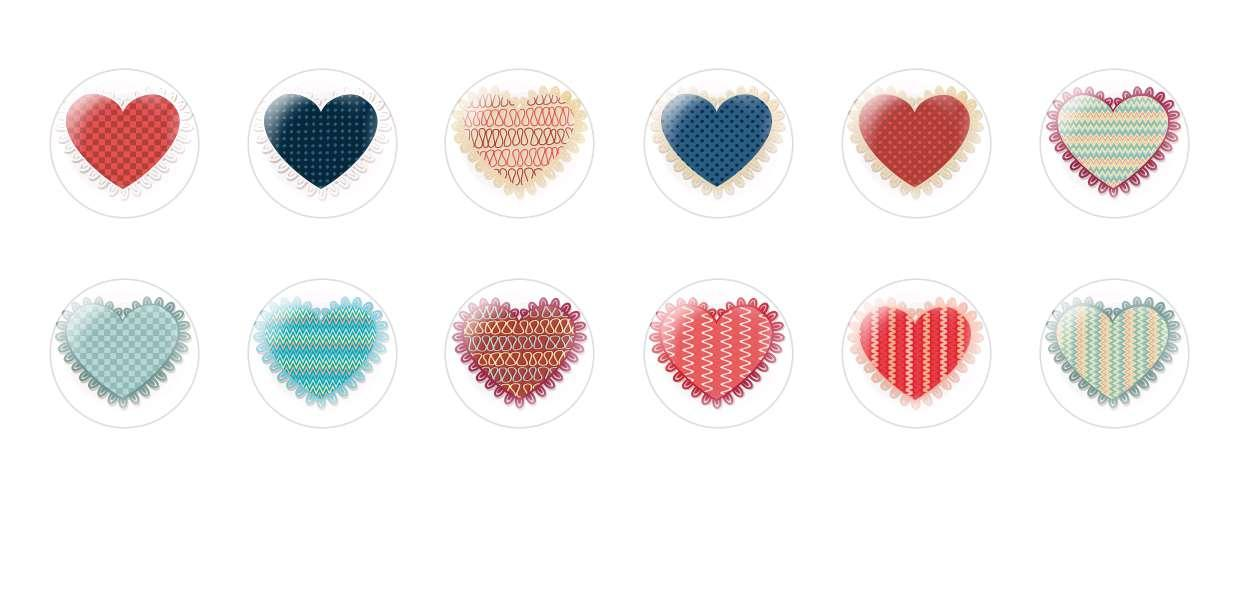 Handmade Round Domed Czech Glass Cabochons Hearts 7 for $6.89 from Czech Beads Exclusive