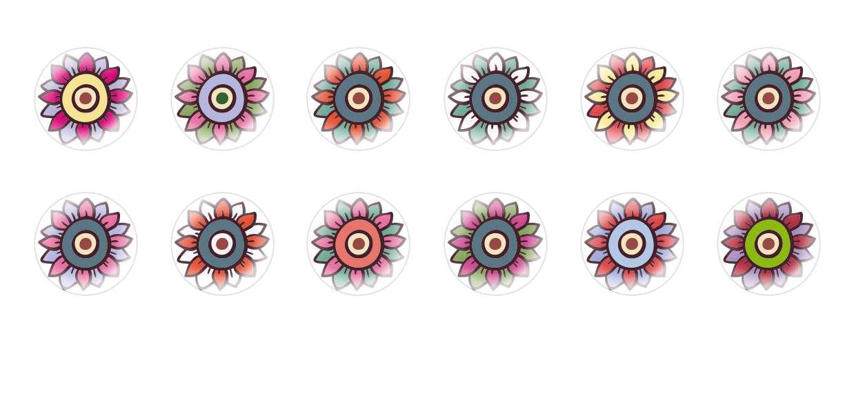 Handmade Round Domed Czech Glass Cabochons Flowers 117 for $6.88 from Czech Beads Exclusive