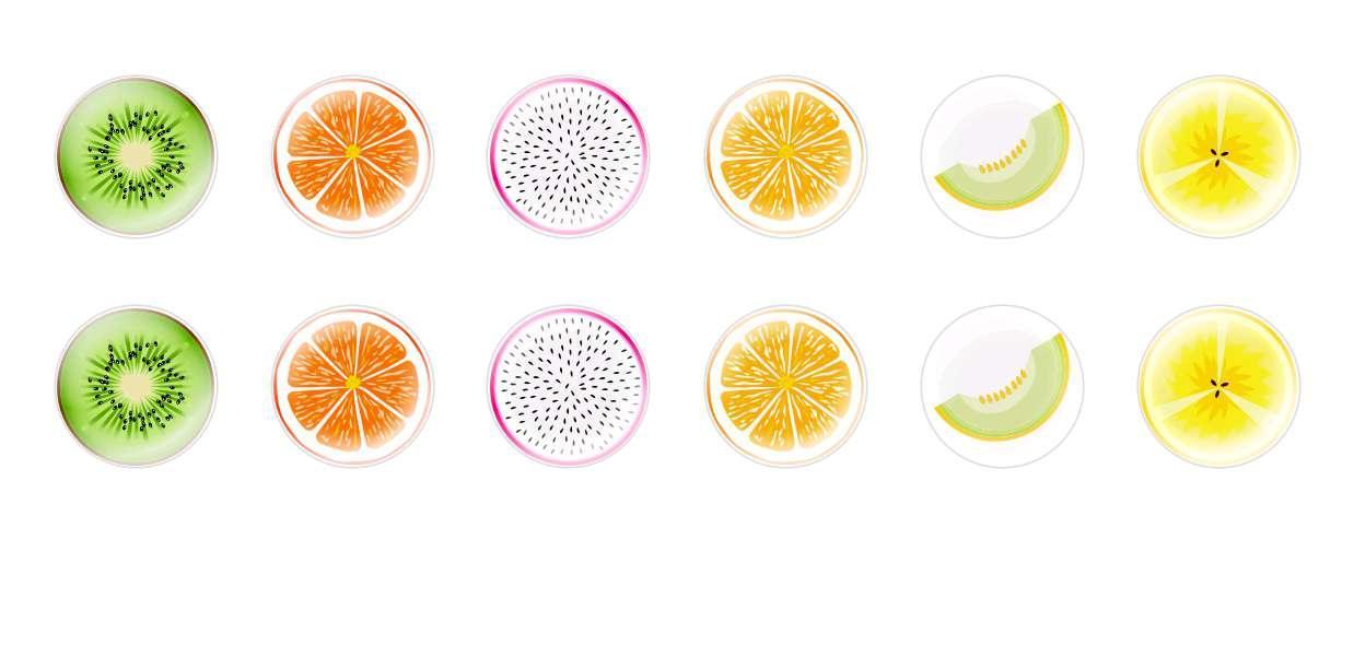 Runde Kuppel Tschechische Glas-Cabochons Geschnittene Früchte 2 für $ 6.89 von Czech Beads Exclusive