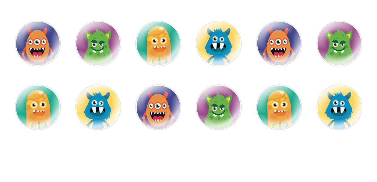 Handmade Round Domed Czech Glass Cabochons Funny Monsters for $7.29 from Czech Beads Exclusive