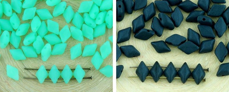60pcs Opaco Matubo Gemduo Rombo Diamanti Due A 2 Fori Ceca Perle Di Vetro Gemma Duo 8mm X 5mm per $ 2.87 da Czech Beads Exclusive