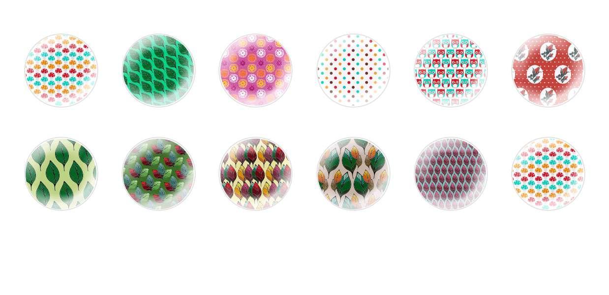 Ручной Работы Кабошоны Лесных Структуры 2 для $ 7.29 из Czech Beads Exclusive