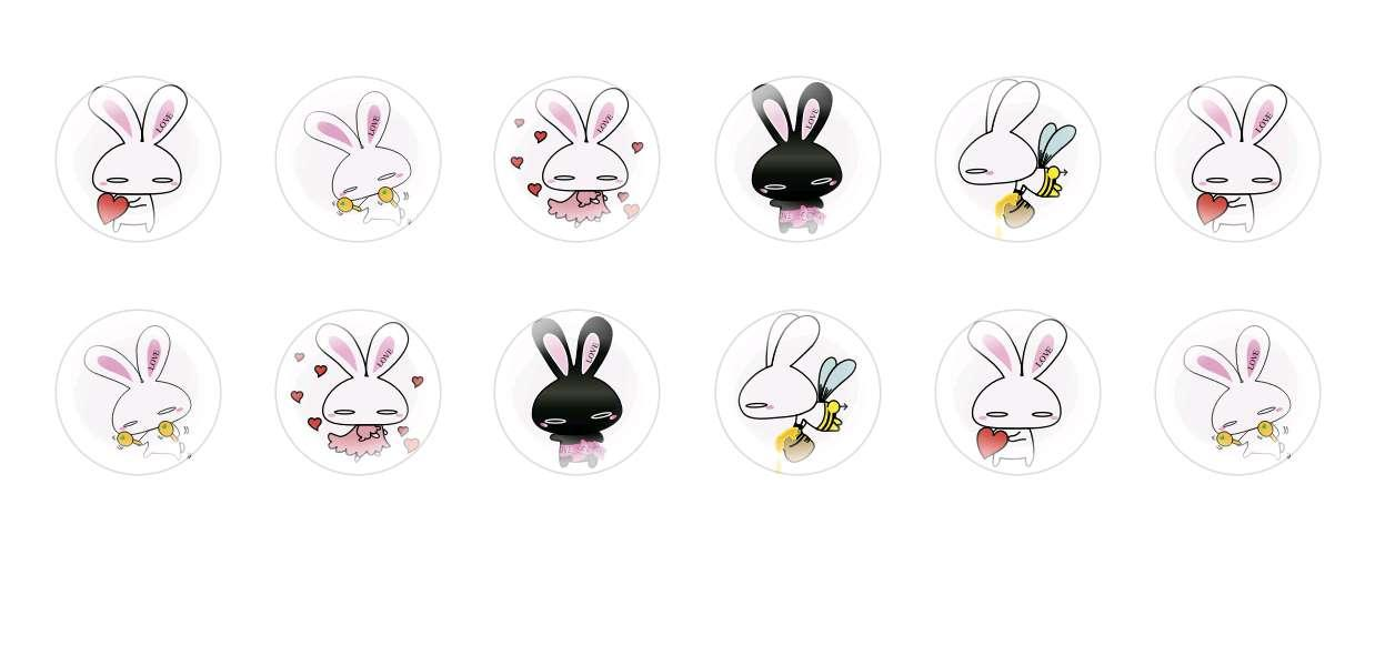 Handmade Round Domed Czech Glass Cabochons Rabbits for $6.93 from Czech Beads Exclusive