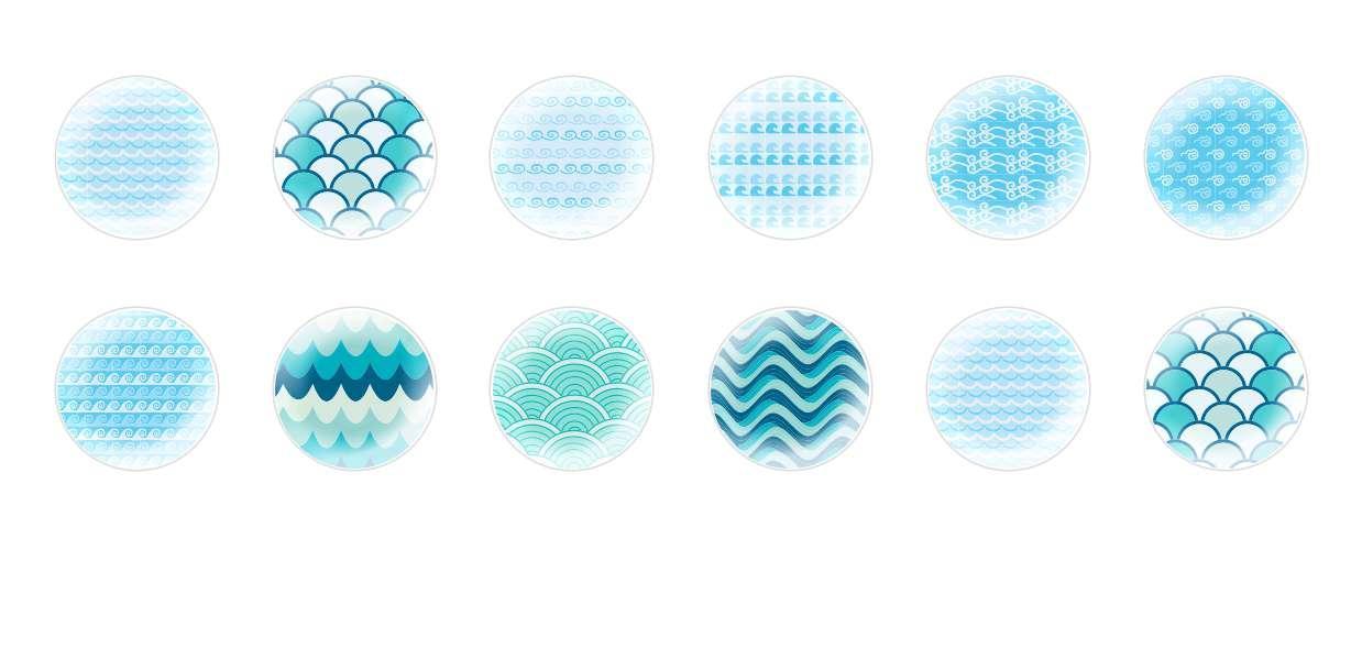 Ручной Работы Кабошоны Моря Структуры для $ 6.93 из Czech Beads Exclusive