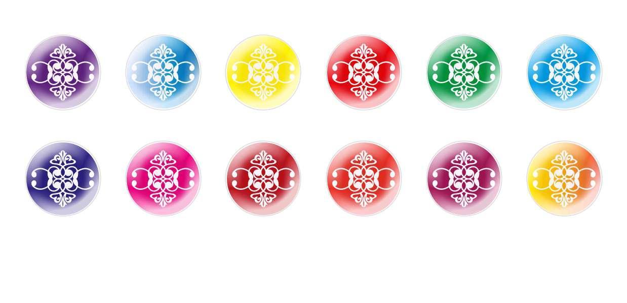 Runde Kuppel Tschechische Glas-Cabochons Muster 63 für $ 7.29 von Czech Beads Exclusive