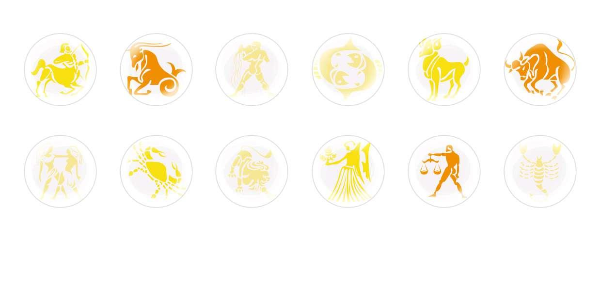 Handmade Round Domed Czech Glass Cabochons Zodiac Signs 4 for $7.29 from Czech Beads Exclusive