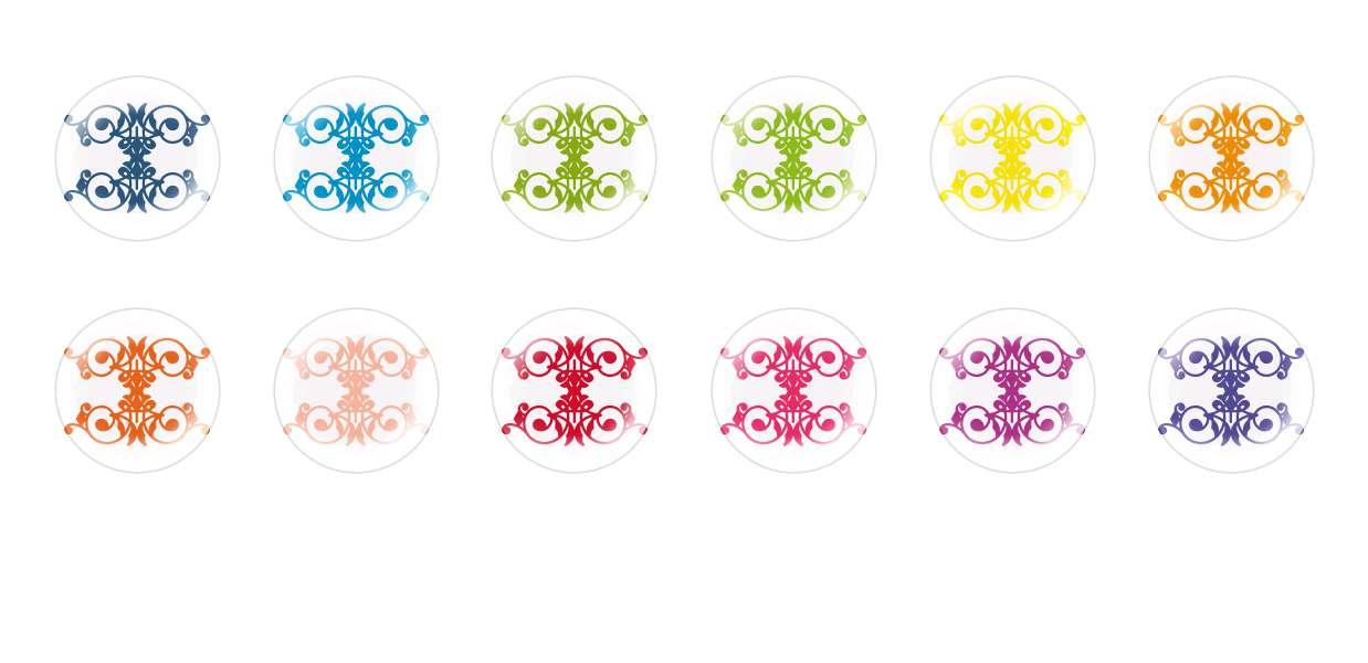 Handmade Round Domed Czech Glass Cabochons Patterns 26 for $7.29 from Czech Beads Exclusive