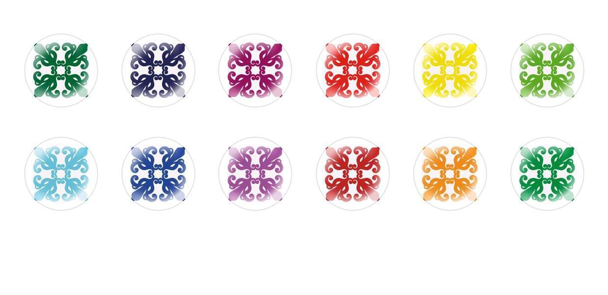 Runde Kuppel Tschechische Glas-Cabochons Muster 66 für $ 7.29 von Czech Beads Exclusive