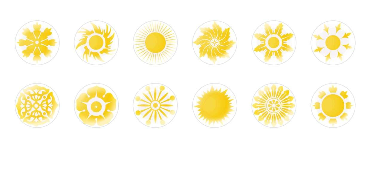 Handmade Round Domed Czech Glass Cabochons Suns 2 for $7.29 from Czech Beads Exclusive