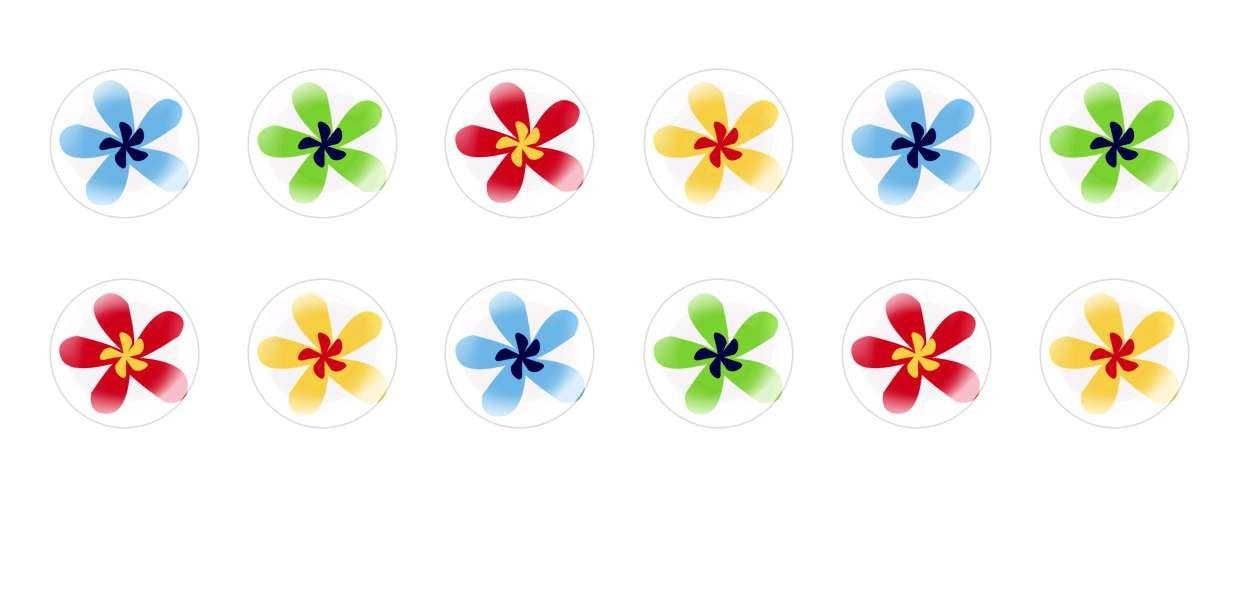 Handmade Round Domed Czech Glass Cabochons Rainbow Flowers for $7.29 from Czech Beads Exclusive