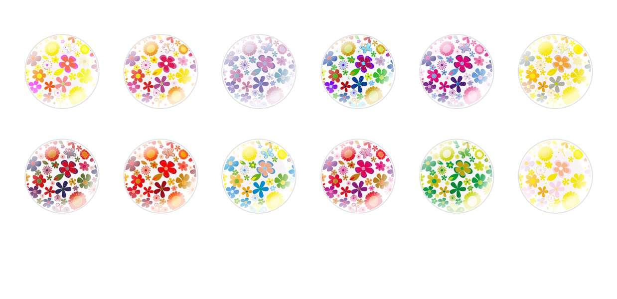 Handmade Round Domed Czech Glass Cabochons Patterns 114 for $7.29 from Czech Beads Exclusive